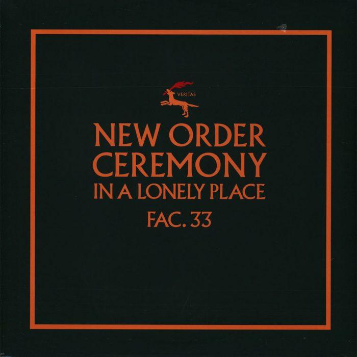 New Order Ceremony in a lonely place. Okładka wykorzystuje krój Albertus.