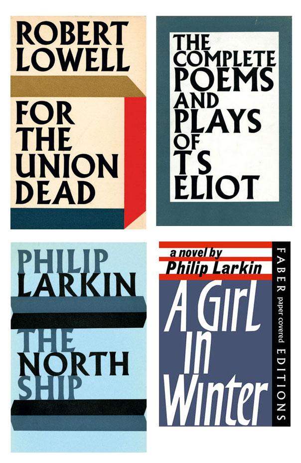 Przykłady okładek zaprojektowanych przez Wolpego. A Girl in Winter należy do serii paperbacków Faber & Faber, za którą również był odpowiedzialny (można ją poznać po czarnym pasku z nazwą firmy z boku).